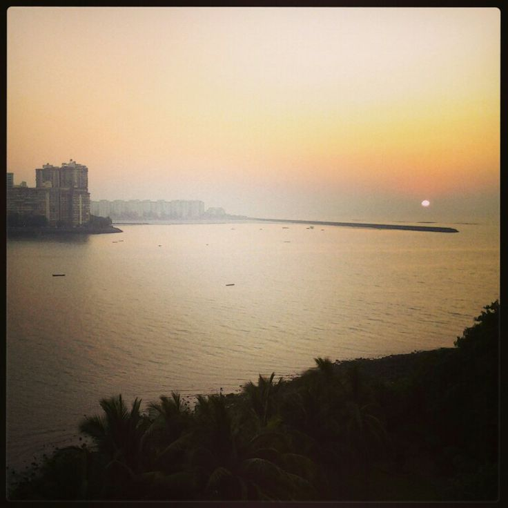 #narimanpoint #mumbai #sunset #horizon #sea #bliss #sun #dusk #colours