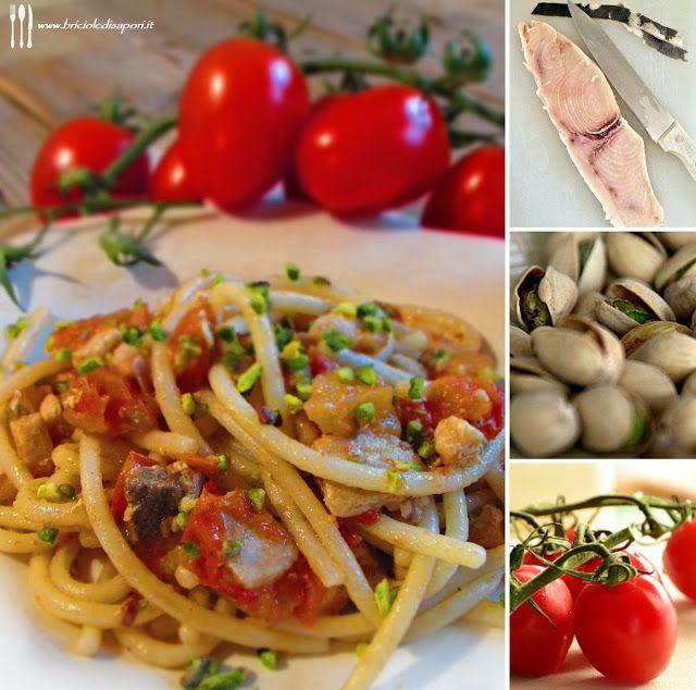 Briciole di Sapori: Spaghetti con pesce spada, pomodorini e granella d...