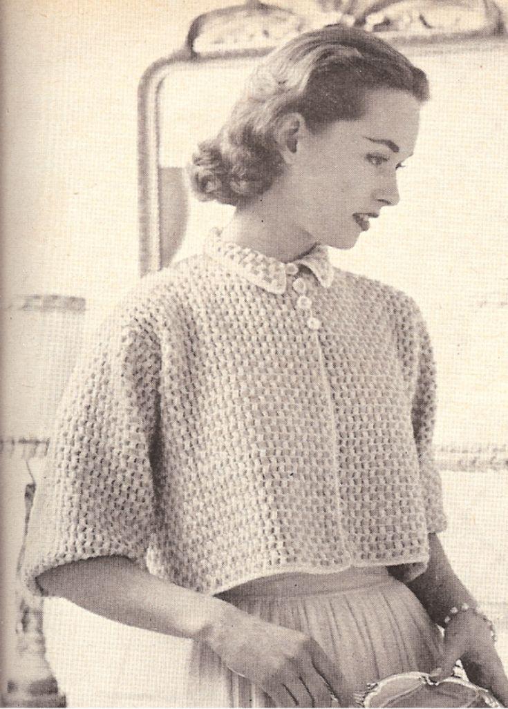 bed jacket sweater pattern 2