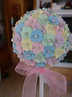 Galletas Imperiales: Bolas de flores de papel. Tutorial iDEA GENIAL PARA ALFILERES DE NOCIA E INCLUSO PARA DECORAR LA iGLESIA