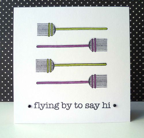 flying by to say hi giggle halloween cardsscrap - What To Say In A Halloween Card