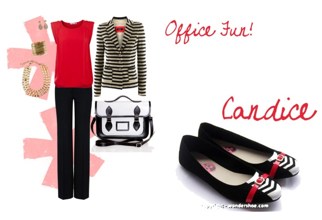 Office wear doesn't have to be boring. Add a touch of fun with the pretty Candice!