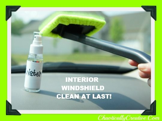 how we clean the inside of our windshield and more window cleaning tips car hacks pinterest. Black Bedroom Furniture Sets. Home Design Ideas