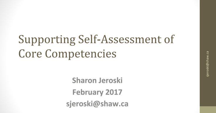 Sharon J self assessment.pptx