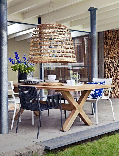 Bamboemand wordt lampenkap - Home and Garden