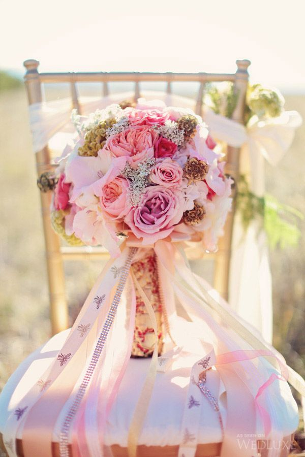 WedLuxe– A Prairie Fairytale |  Follow @WedLuxe for more wedding inspiration!  Bouquet by FaBLOOMosity