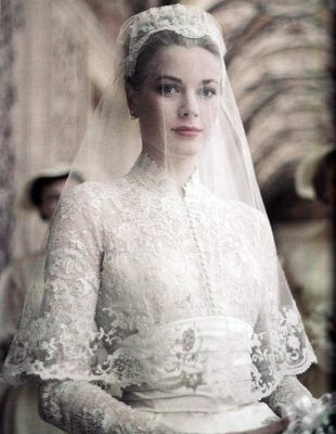 Grace Kelly  - one of the most gorgeous wedding dresses, I love the veil too (I think this dress is much pretty that Kate Middleton's!)