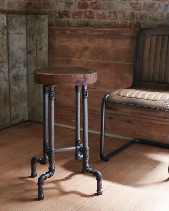 Industrial Style Steel Pipe Pine Wood Tables Desks A: 17 Best Ideas About Pipe Decor On Pinterest