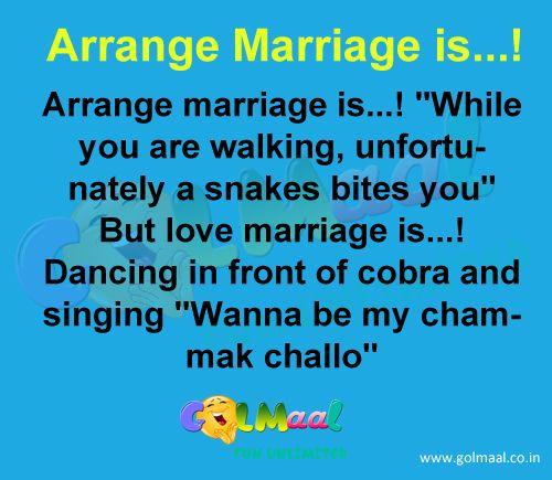 Arrange Marriage Is Funny Jokes