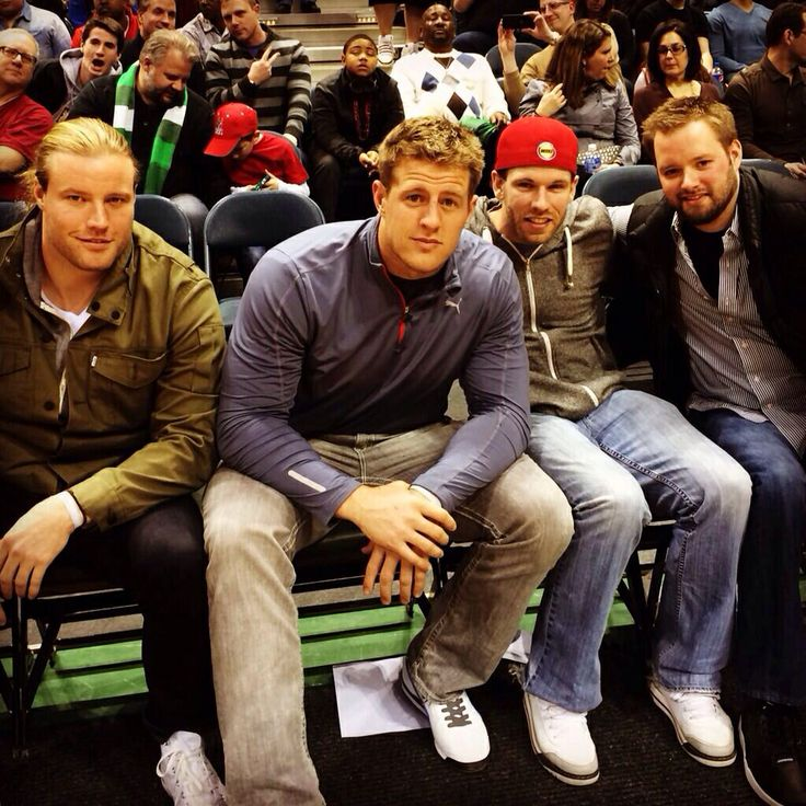 Photo of J.J. Watt & his friend American Football player  Brooks Reed - Team Houston Texans