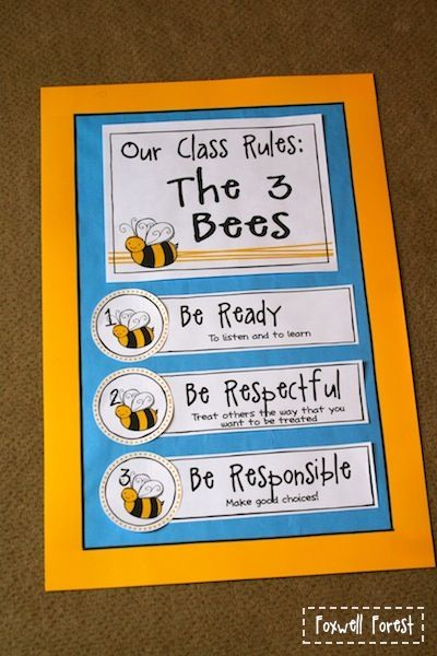 Foxwell Forest: Classroom Rules: The 3 Bees Freebie!