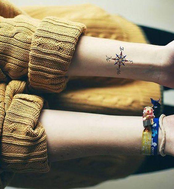 Idées de tatouages pour le poignet : une boussole – tatoo
