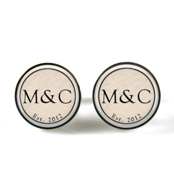 Personalised couple monogram cufflinks