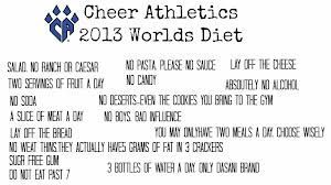 cheer abletics worlds diet. Going to attempt this the month leading up to worlds in honor of cheer athletics