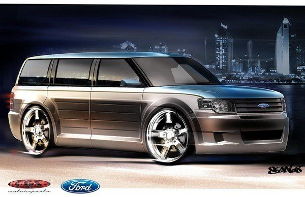 customized 2009 Ford Flex for the SEMA Show.