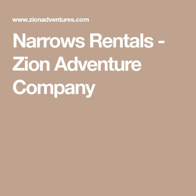Narrows Rentals - Zion Adventure Company