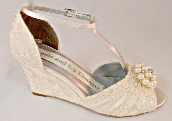 Wedge Heel Shoes For Wedding: Best 25+ Bridal Wedges Ideas On Pinterest