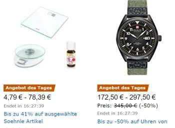 """Amazon: Soehnle-Waagen mit Rabatt für einen Tag https://www.discountfan.de/artikel/technik_und_haushalt/amazon-soehnle-waagen-mit-rabatt-fuer-einen-tag.php Artikel von Soehnle sind heute für einen Tag mit """"bis zu 41 Prozent Rabatt"""" bei Amazon zu haben. Mit dabei sind Küchenwaagen, Personenwaagen und diverse Wellness-Artikel. Amazon: Soehnle-Waagen mit Rabatt für einen Tag (Bild: Amazon.de) Die Soehnle-Artikel mit Rabatt sind nur am he... #Waage, #Waagen"""