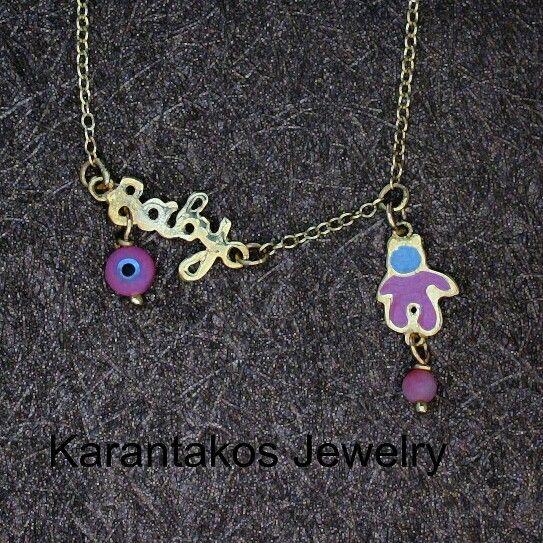 #karantakos #jewelry #jewellery #fashion #design #designer #gold #14k #baby #girl #gift #christmas #love #good #luck #happy #italian
