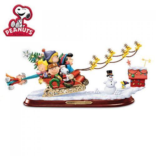 Peanuts-Gang-trineo-a-caballo-escultura-estatua-de-vacaciones-de-Navidad-Estatuilla-Nuevo
