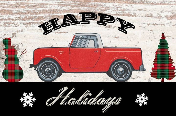 ||| Merry Christmas and Happy New year Scout fans! #happyholidays #merrychristmas #happynewyear #ihscout #scout800 #scout80 #internationalharvester Photo cred: http://ift.tt/2hamzic ||| international scout 80/800 |||