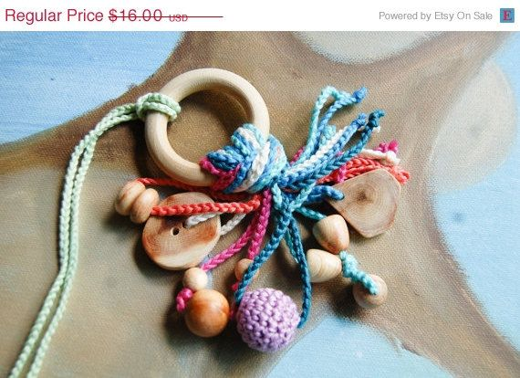 Teething Toy teether by SNORKOVNA от Snorkovna на Etsy 16$