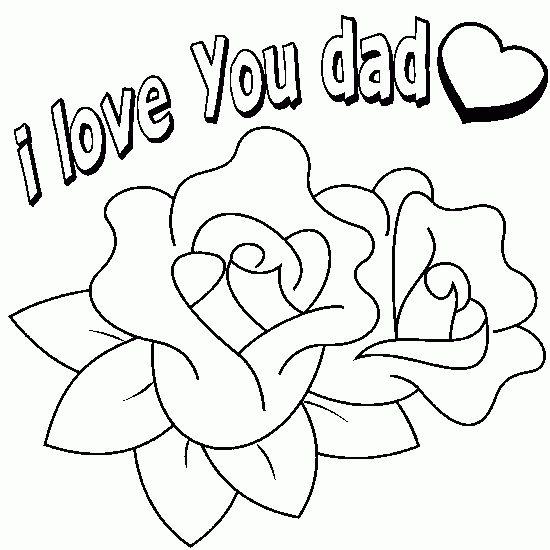 i love dad coloring print pg