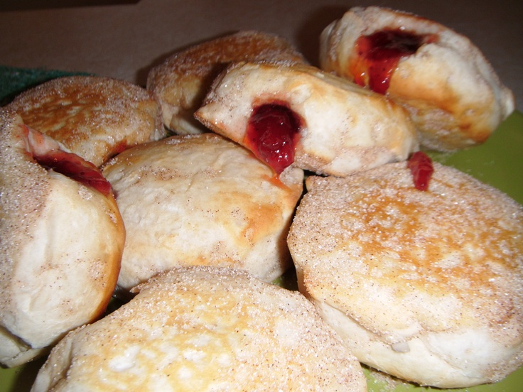 ... if you desire). Fill with either strawberry or raspberry jam. ENJOY