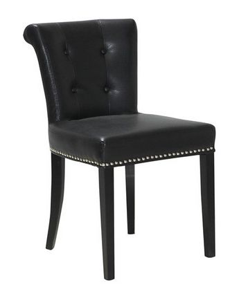 Pair of Ely Dining Chairs Black Leather - £399.00 - Hicks and Hicks