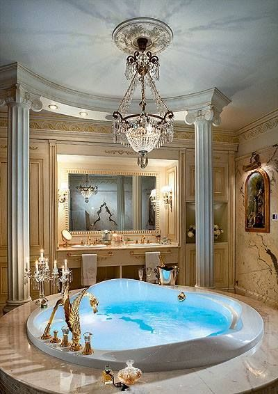 Check Out This Super Luxurious Bathroom With Gold Fixtures