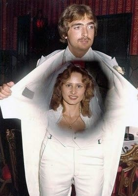 An old 80's wedding photo......hysterical!!!!