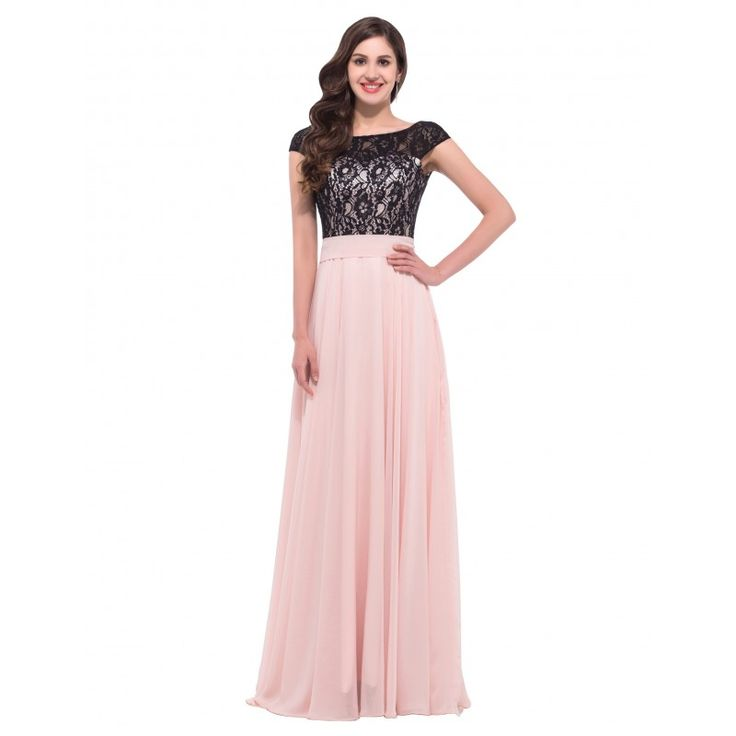 Ružové spoločenské šaty 6152