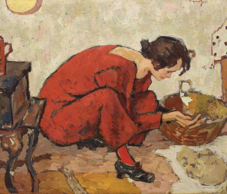 Preparing Table (interior IV) -  Nicolae Tonitza   Romanian 1886 – 1940