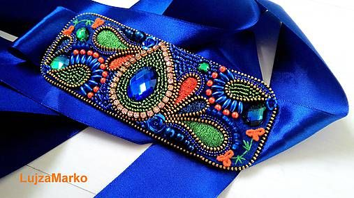 LujzaMarko / Royal blue opasok