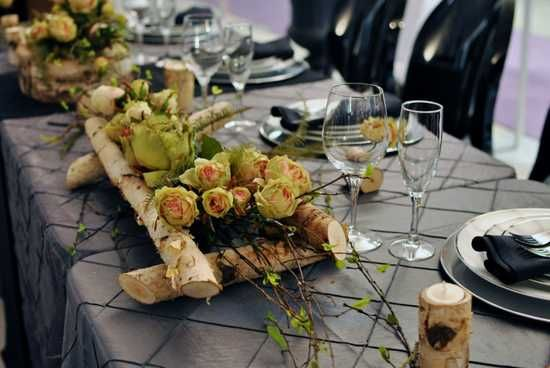 Natural Table Decoration Christmas Ideas Pinterest