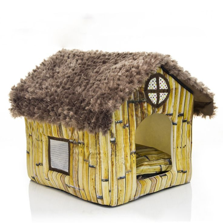 Cute Small Pet Dog Cat Bed Tent House Kennels For Small Dog Warm Fleece Dog Puppy  Bed Indoor House Nest Cushion #Affiliate