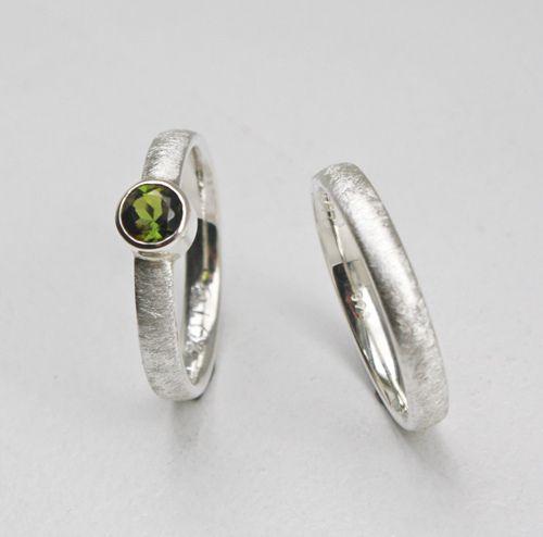 Eheringe - TRAU.Ringe Silber & Turmalin - ein Designerstück von Schmuckewelt bei DaWanda