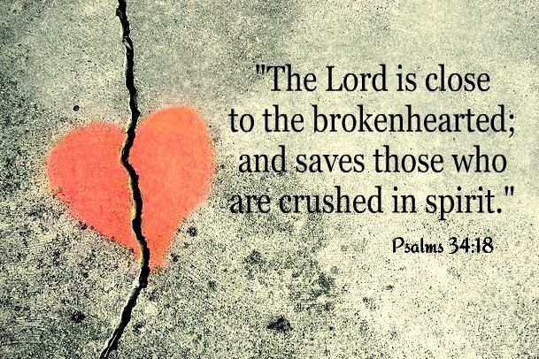 Image  result for god is close to the brokenhearted nkjv