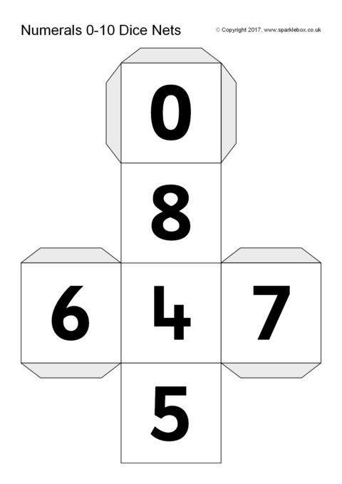 Numbers 0 10 Dice Templates Sb12188 Sparklebox Dice Template Math Tools Template Printable