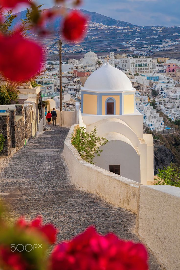 Spring in Fira - Santorini, Greece