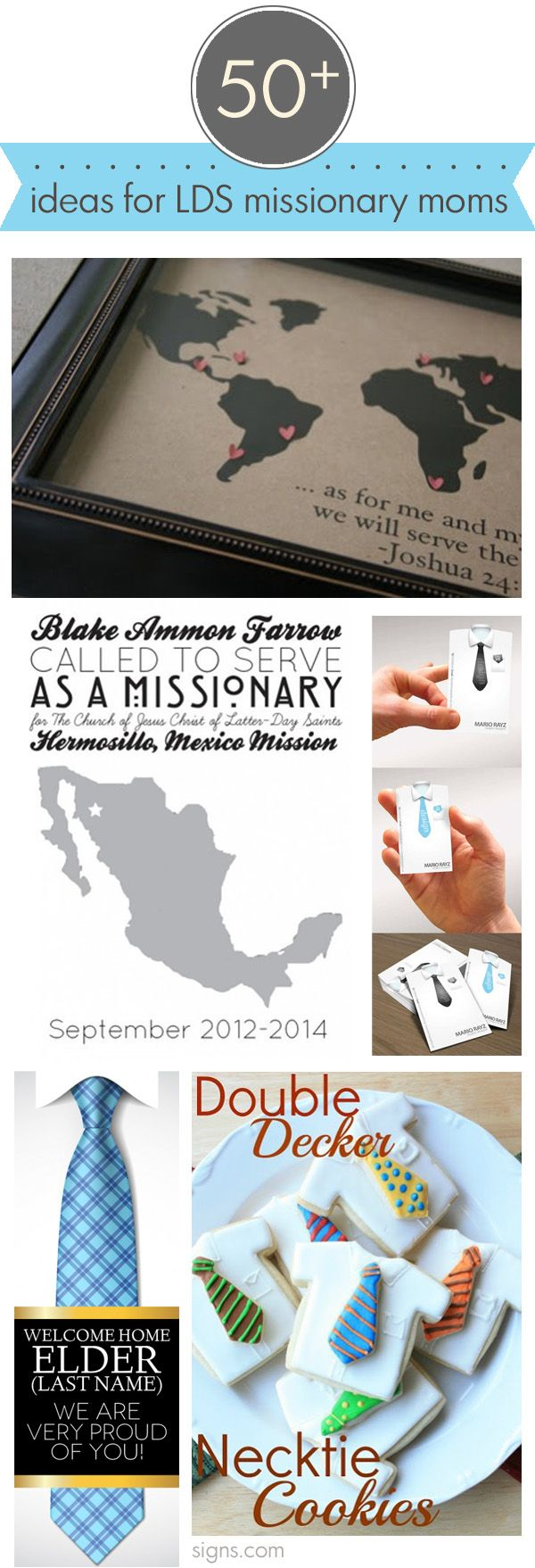 50+ ideas for farewell and welcome home parties for your missionary | www.signs.com #lds #missionary