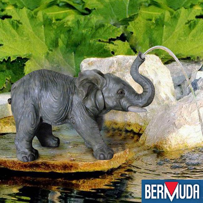 12 best images about water features fountains on for Garden elephant pool