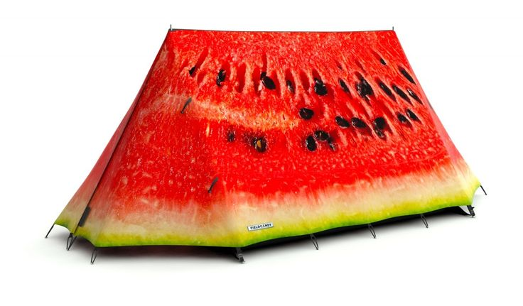 What a fancy tent! What a melon | FieldCandyFields Candies, Camps Tents, Stuff, Fieldcandi, Camping, Watermelon Tents, Things, Products, Design