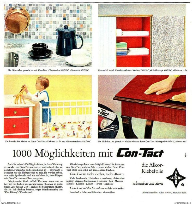 846 best vintage print ads reklame haus und wohnen for Klebefolie retro