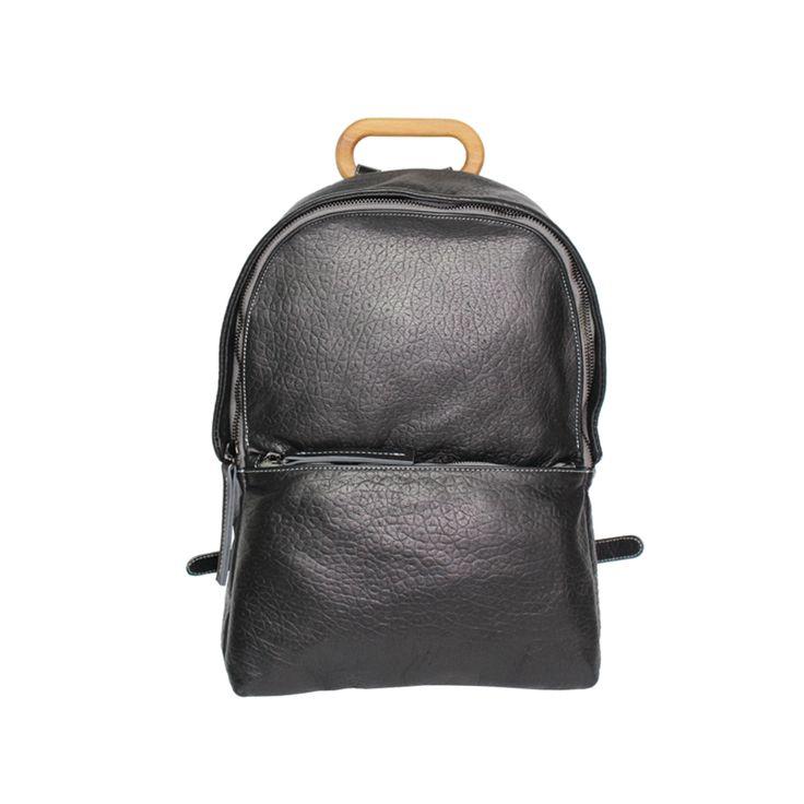 NAOKO black leather backpack style 5