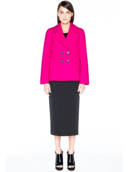 Pink coat from Veronika Maine @Kay Beaver New Zealand #colourfulcoat #winter