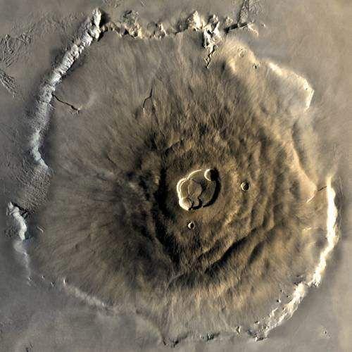 La montaña más alta del sistema solar: el Monte Olimpo de Marte (FOTOS)