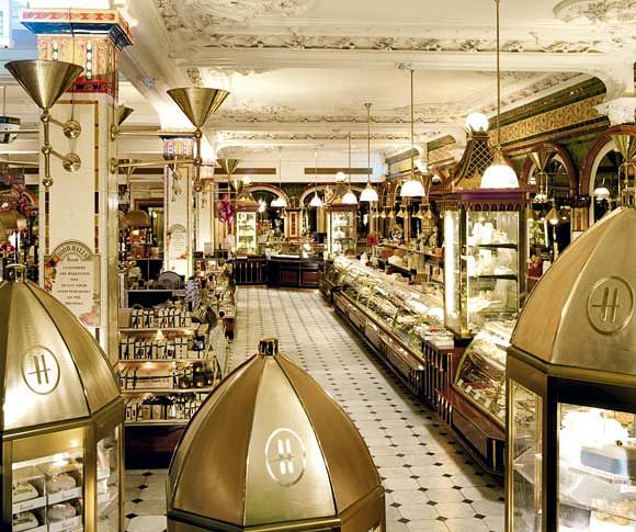 Harrods Chocolate room - Love the selection... and the ostentatious display of chocolate!  What a great store.