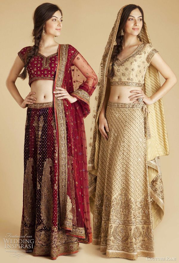 Bridal saris from Ritu Kumar.