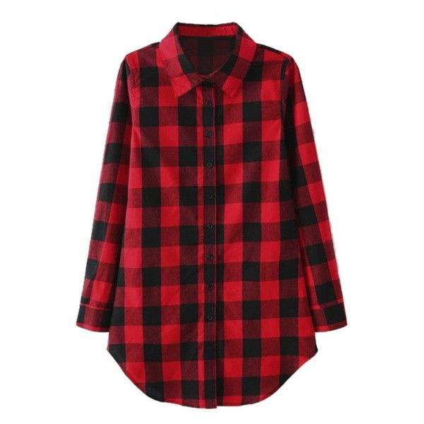 Plaid Flannel Tunic Shirt ($25) ❤ liked on Polyvore featuring tops, tunics, shirts, flannel, tartan plaid shirt, red top, plaid tunic, grunge plaid shirt and plaid shirt